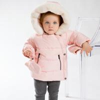 davebella戴维贝拉  男女宝宝冬季新款棉服 加厚棉衣含手套