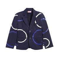 【3件6折】小猪班纳男童2019春款男童外套夹克风衣童西装外套