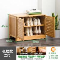A简易鞋柜简约现代玄关门厅柜欧式储物柜多功能实木鞋架鞋橱 组装