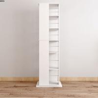 日式实木旋转书架创意360度宜书柜落地现代简约置物架学生