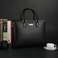 头层牛皮男包手提包男士皮包商务公文包横款大容量电脑包