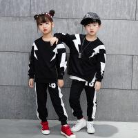 儿童街舞套装男童秋装长袖女童舞蹈服冬季跳舞衣服嘻哈演出服