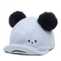 翘舌帽子男女童鸭舌帽儿童遮阳帽小孩棒球帽太阳帽棉