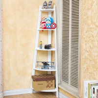 创意转角落地置物层架装饰实木书架客厅卧室隔板搁板五层花架