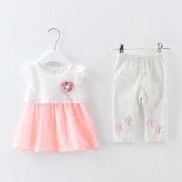 女宝宝女婴儿夏装衣服装幼儿小孩夏季套装潮1岁半12个月