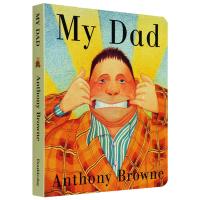 我爸爸 英文原版绘本 My Dad 英文版 幼儿英语启蒙纸板书 家庭关系 情商管理绘本故事书 Anthony Brown
