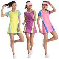 新款羽毛球服女连衣裙网球裙运动连衣裙套装速干透气