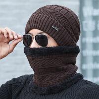 时尚帽子男冬天针织毛线帽加绒加厚韩版潮保暖防寒骑车秋冬季男士棉帽