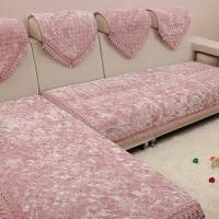 简约现代皮沙发套巾四季通用防滑金丝绒冬季毛绒沙发垫布艺坐垫子