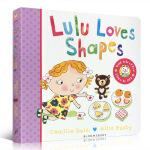 顺丰发货 Lulu Loves Shapes 露露爱形状 露露系列 纸板翻翻书 幼儿启蒙 Lulus系列 英文原版 启