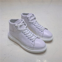 CUM 时尚潮男红色高帮板鞋英伦夜店厚底增高运动休闲鞋青年男鞋靴