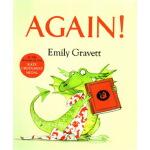 吴敏兰书单英文原版绘本 Again! 再来一次 喷火龙 格林威大奖 Emily Gravett