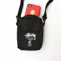 12新款干十毛 潮女男 情侣多功能收纳包小背包腰包相机包 手机包 嘻哈款 黑色