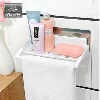 双庆吸盘置物架卫生间置物架毛巾挂吸盘壁挂卫浴毛巾架5054香皂盒卫生间沥水肥皂架壁挂皂盒抹布置物架
