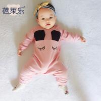 婴儿连体衣服宝宝新生儿季爬爬服01岁7个月款长袖哈衣睡衣