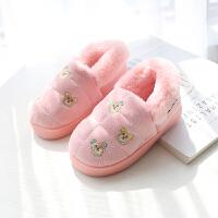 棉拖鞋包跟加绒保暖棉鞋女童家居室内鞋小孩子男童棉鞋秋冬季