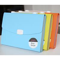树德手提风琴包文件夹多层学生文件包试卷袋女 韩版资料票据夹A4 资料手册包