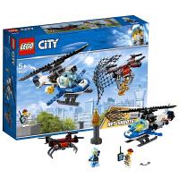 【当当自营】LEGO乐高积木城市组City系列60207 5岁+空中特警无人机追击
