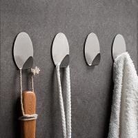 免打孔挂钩强力小粘钩粘胶宿舍墙壁厨房壁挂不锈钢贴单个家用粘勾