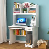 电脑桌台式宜家家居简易写字桌简约书桌书架家用卧室