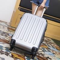 行李箱女拉杆箱旅行箱包密码皮箱子学生万向轮20寸24寸韩版小清新 银 包角加固静音轮