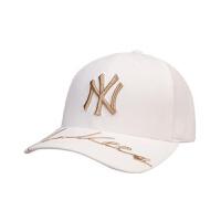 MLB 美职棒大联盟棒球帽男女款NY可调节金标字母刺绣弯檐嘻哈潮流遮阳鸭舌帽子
