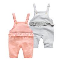 吊带背心宝宝婴儿0春装连体衣服1岁3个月休闲背带裤春季