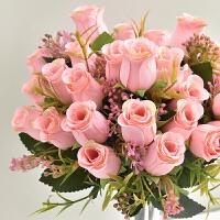 仿真玫瑰花单支假玫瑰花仿真花束客厅卧室绢花插花家居餐桌装饰品