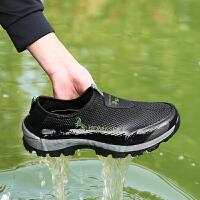 【满299减200】夏季男鞋网面休闲透气软底网鞋登山旅游鞋户外徒步鞋