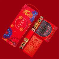2019猪年和和美美礼盒新年春节对联窗花门神利事红包对联方形礼盒