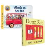 顺丰发货 英文原版进口绘本 dear zoo 亲爱的动物园 送音频 Wheels on the Bus 公车的轮子 儿