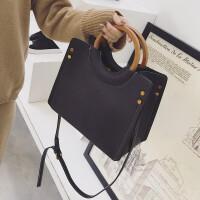 手提包女韩版新款个性时尚圆环社会女简约百搭单肩斜挎小方包