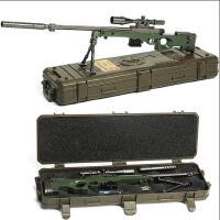 绝地吃鸡游戏周边模型 抛壳版AWM狙击步枪合金玩具大号不可发射