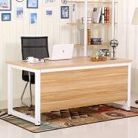 简易电脑桌钢木书桌简约双人办公桌台式家用写字台会议桌老板桌