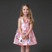 2018秋季女童连衣裙儿童公主裙无袖背心裙宝宝蓬蓬裙亲子装母女装