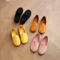 春秋季儿童鞋女童公主单鞋小童男童豆豆鞋软底宝宝鞋