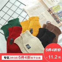 儿童围巾冬季韩版潮男童毛线围脖4岁针织加厚保暖百搭