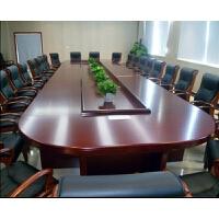 办公家具实木会议桌型商务洽谈桌会议台家具开会桌长条办公桌
