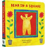 英文原版 Bear in a Square 正方形里的比尔熊 纸板书 Barefoot