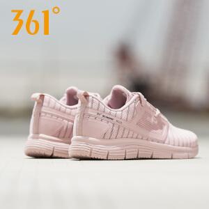 361度女鞋运动鞋秋季新款网面轻便透气跑鞋女士粉色休闲跑步鞋女
