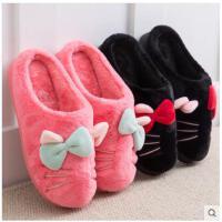 韩版卡通棉拖鞋女冬季包跟保暖加厚室内毛毛棉鞋家居家棉拖鞋