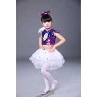 六一儿童演出服男女爵士舞幼儿园亮片舞蹈服舞表演服装蓬蓬裙
