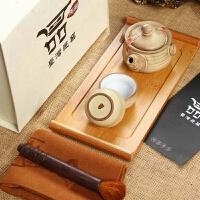 尚帝 整套功夫茶具 一壶二杯竹制托盘 茶具套装 快客杯茶具套装2014WHGF5K
