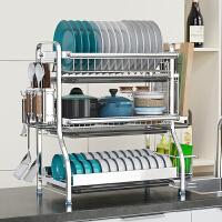 304不锈钢碗碟沥水架厨房置物架多层晾放盘子用品收纳架家用大全