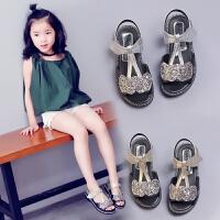 女童凉鞋夏季儿童凉鞋女童公主鞋中大童夏款鞋