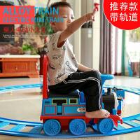 越诚托马斯小火车套装轨道儿童玩具男孩电动火车轨道车车可坐人