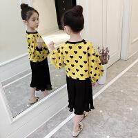 童装女童秋装套装韩版秋季儿童两件套春秋装时髦洋气潮衣