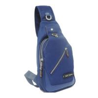 帆布胸包牛津布男士包包户外运动休闲单肩包斜挎包小背包 蓝色
