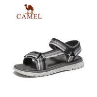 camel 骆驼男鞋2019夏季新品户外时尚潮流织带凉鞋沙滩减震轻盈防滑鞋子