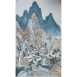 方骏著名画家 南京艺术学院教授 江南人家